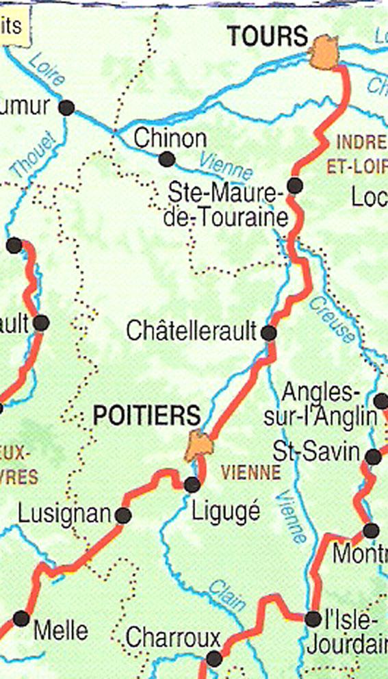 Carte Tours - Melle